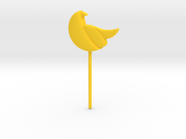 Bird Topper in Yellow Processed Versatile Plastic