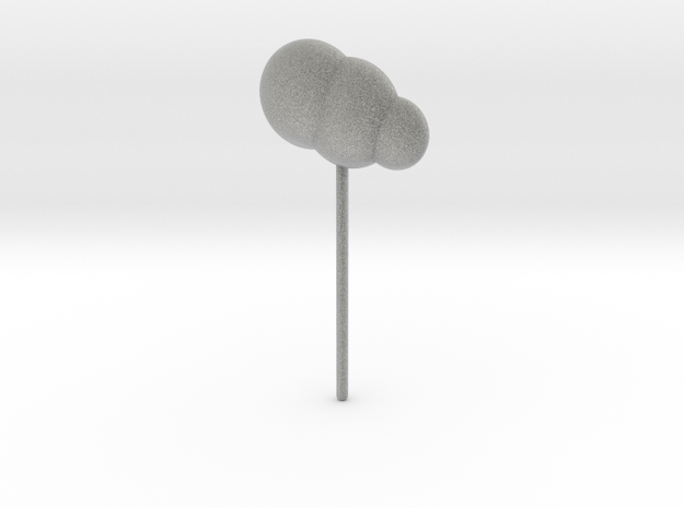 Cloud Topper in Metallic Plastic