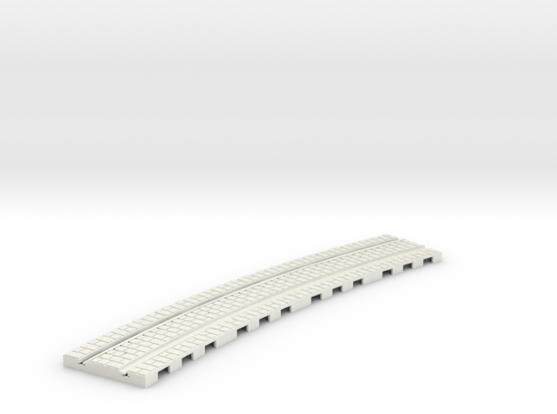P-165st-long-curved-r2-tram-track-100-6a in White Natural Versatile Plastic