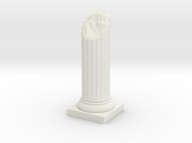 Pillar Broken Bottom Original Lrg in White Natural Versatile Plastic