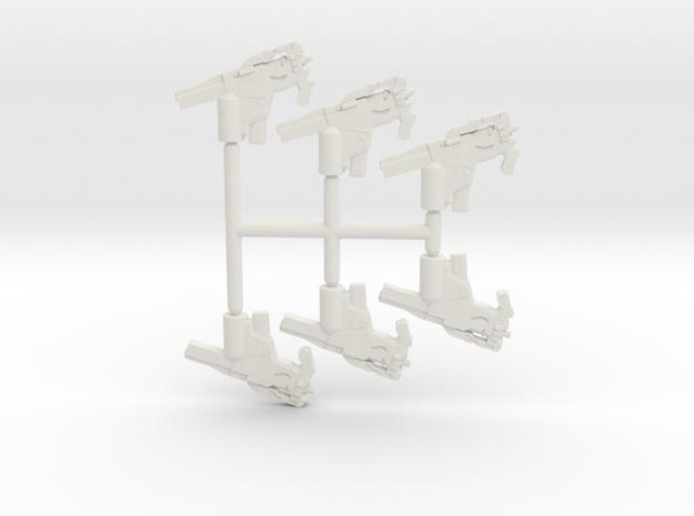 Tri Burst SMG Pack in White Natural Versatile Plastic