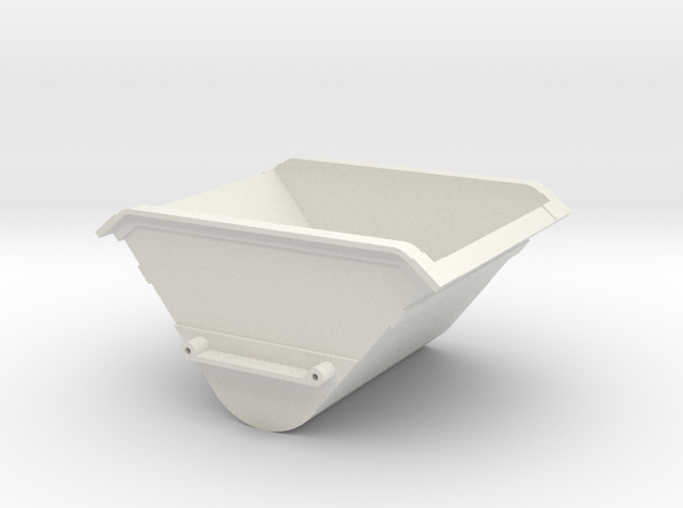 GN 15 DIN Kipplore Mulde  in White Natural Versatile Plastic