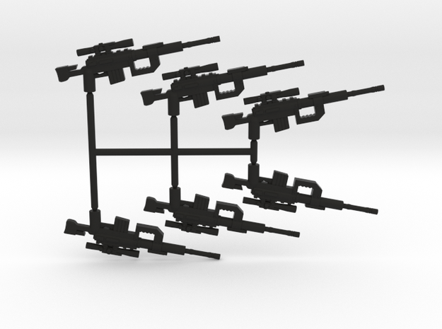 Intervention Sniper Rifle Pack in Black Natural Versatile Plastic