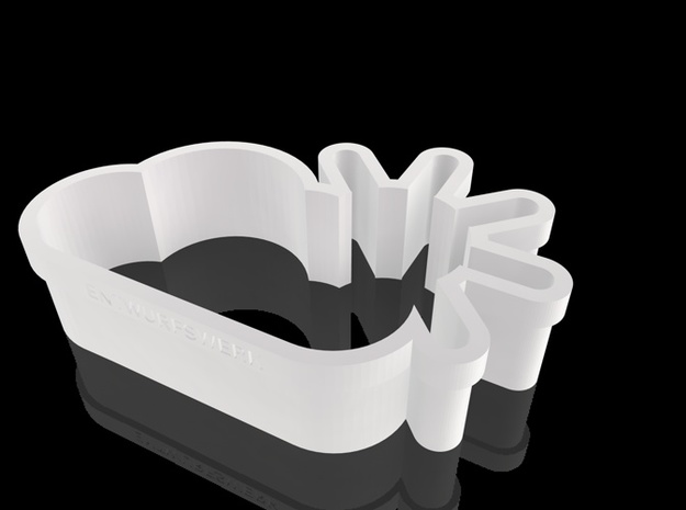 Sunny Clouds cookie cutters 3d printed