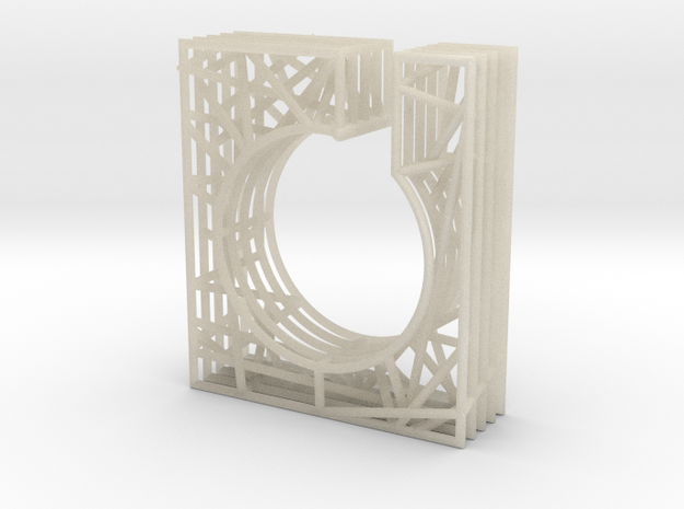 LOFF - wire cubic ring and pendant 1 3d printed