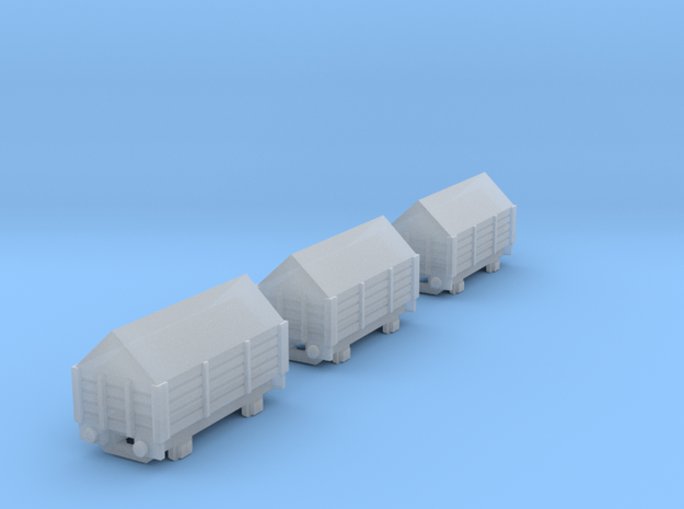 T-gauge 3 Salt trucks  - Custom Wheels, see descri in Smooth Fine Detail Plastic