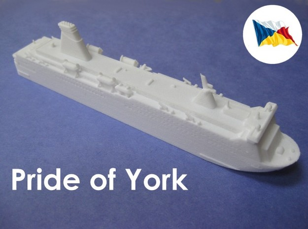 MS Pride of York (1:1200) 3d printed
