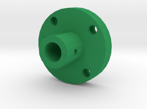 Disc Axle Fixer in Green Processed Versatile Plastic