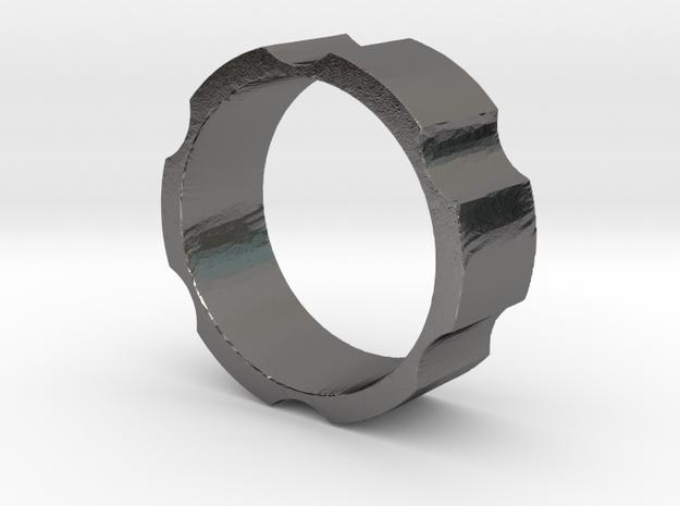 RAS - revolveHER - Mens Ring in Polished Nickel Steel