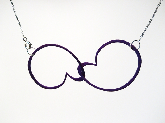 Hidden Heart Loops in Purple Strong & Flexible Polished