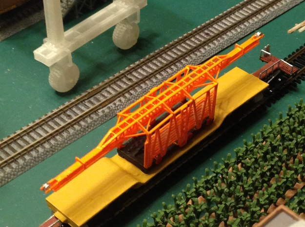 34 ft. MOW Rail Car Z Scale in Smooth Fine Detail Plastic