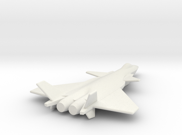 Chengdu J20 1 285 Scale TOM 18aJan2015 in White Natural Versatile Plastic