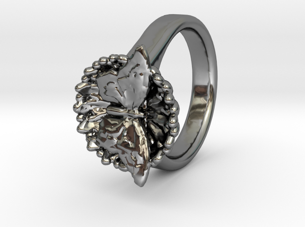 Swallowtail Butterfly Ring in Fine Detail Polished Silver
