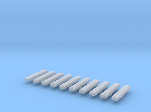 Flacherblaulichtbalken 10Stück in Smooth Fine Detail Plastic