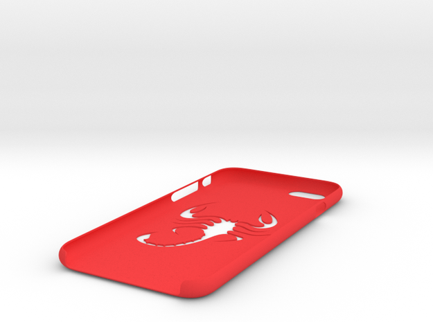 Iphone 6 scorpion case in Red Strong & Flexible Polished