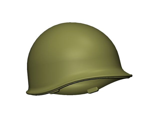 M1 Helmet (set of 9) 1-16 Scale in Smooth Fine Detail Plastic
