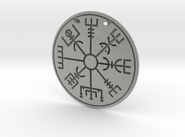 Pendant Runic compass D40mm in Metallic Plastic