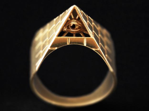 Illuminati Ring in Polished Bronze