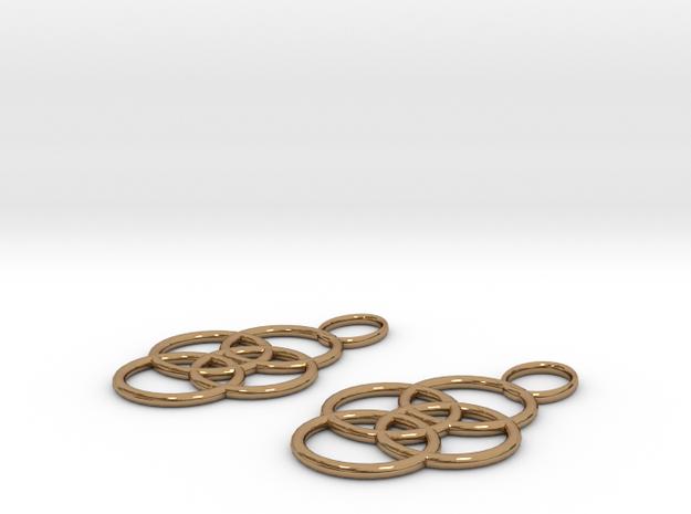 Earrings in Polished Brass
