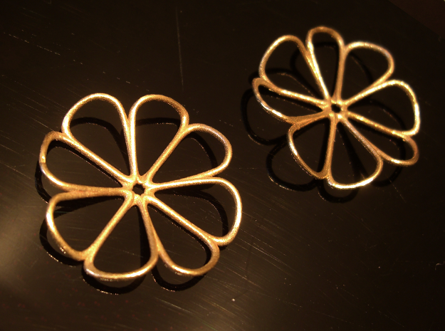 Four-leaf clover earrings (pair)