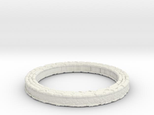 Pendant ring in White Natural Versatile Plastic
