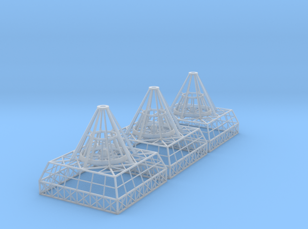 Antenna Bases X 3 V0.1 in Smooth Fine Detail Plastic