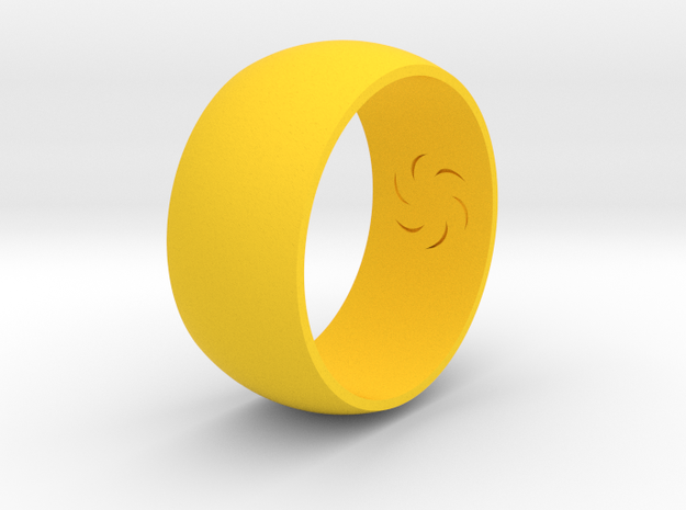 Ring Of Void in Yellow Strong & Flexible Polished