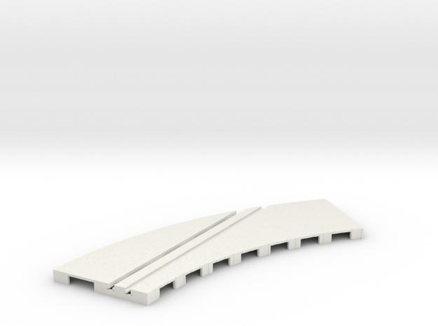 P-65stp-curve-rh-junction-inner-145r-100-pl-1a in White Natural Versatile Plastic