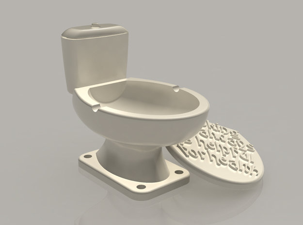 Ashtray a toilet bowl 3d printed
