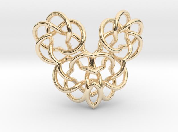 Heart/Skull (small) in 14K Yellow Gold