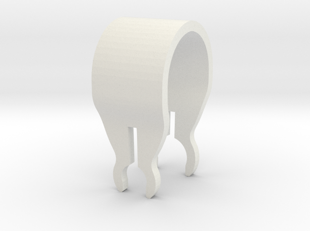 ARL Clip in White Natural Versatile Plastic