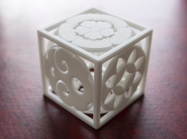 Japanese-inspired Ornament 3d printed Printed in WSF, bottom