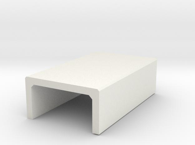 H0 Box Culvert Half Height (size 2) in White Natural Versatile Plastic