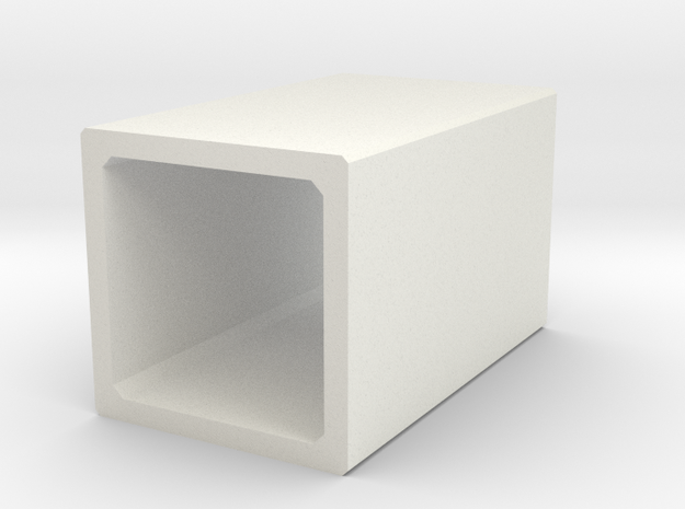 H0 Box Culvert (size 2) in White Natural Versatile Plastic