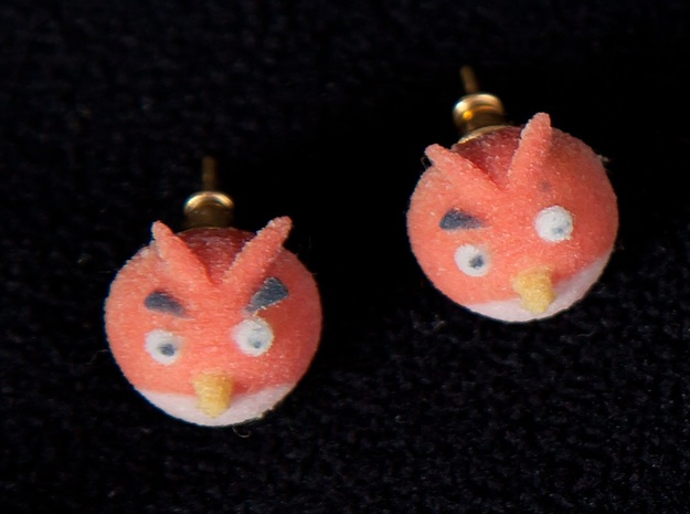 Angry Birds Earrings in Full Color Sandstone