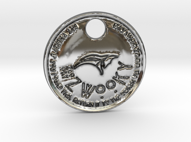 ZWOOKY Style 160 - pendant Anubis  in Fine Detail Polished Silver