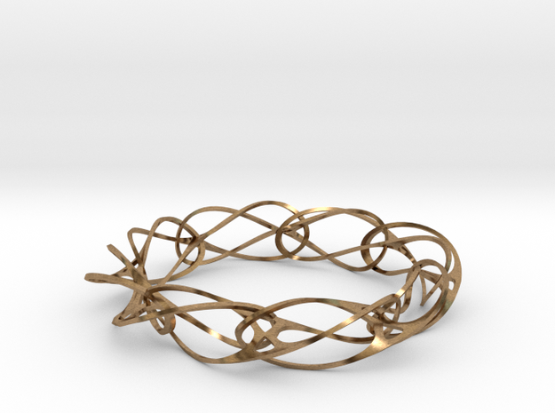 Vertebracelet in Raw Brass
