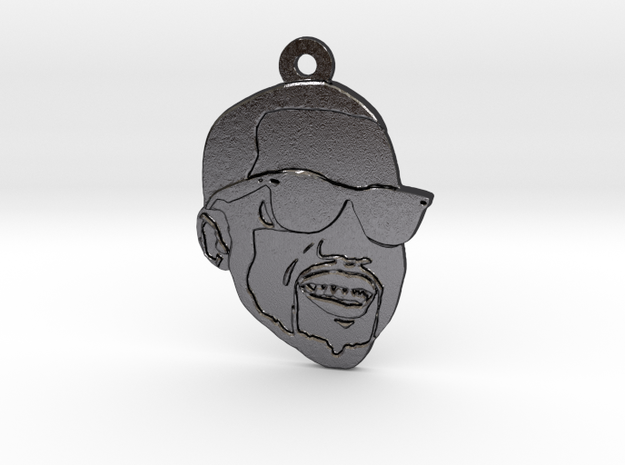 Kanye West in Polished and Bronzed Black Steel