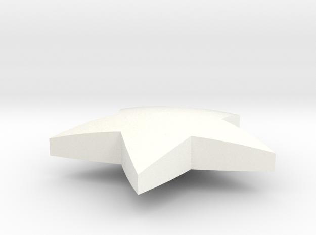 Wonder Button in White Processed Versatile Plastic