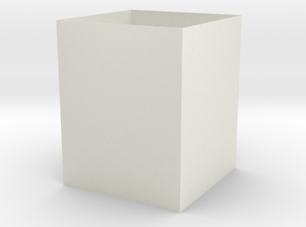 5 Inch Cube in White Strong & Flexible