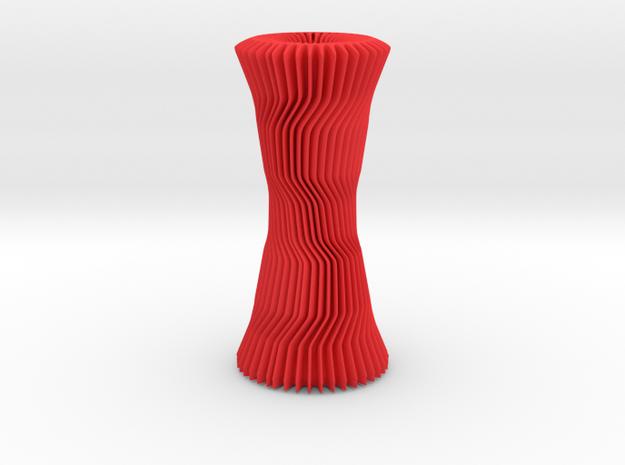 Vase     in Red Processed Versatile Plastic