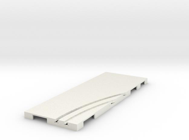 P-65stp-straight-rh-curve-inner-145r-100-pl-1a in White Natural Versatile Plastic