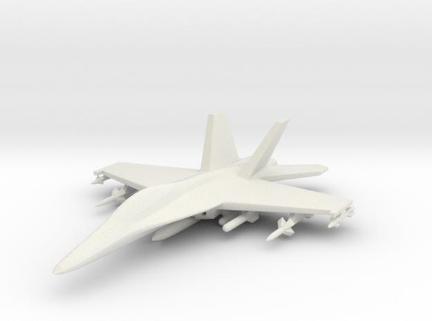 1/285 (6mm) F-18 Super Hornet w/Ordnance Pack-1 in White Natural Versatile Plastic
