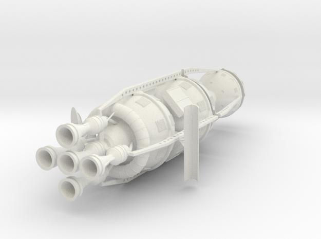 1/72 VON BRAUN ROUND THE MOON SHIP in White Natural Versatile Plastic