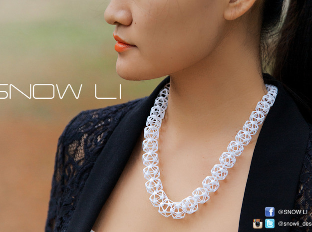 ICE Necklace in White Strong & Flexible