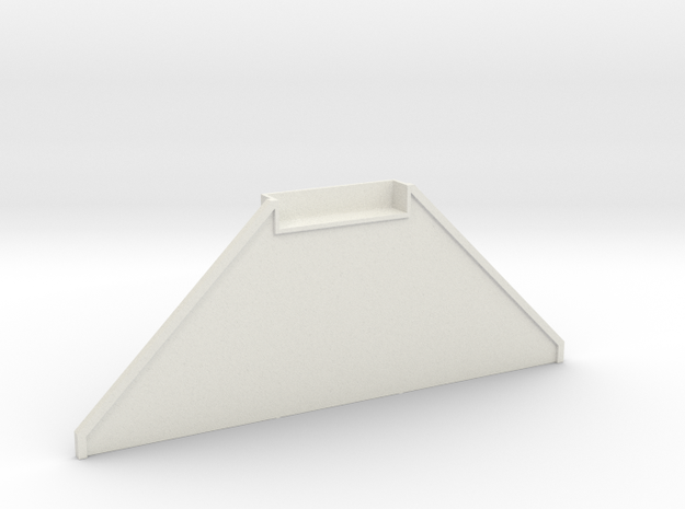 N Bridge Abutment With Wing Wall in White Natural Versatile Plastic