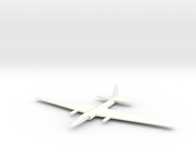 1/285 (6mm) TR-1 (U-2) Spy Plane 3d printed