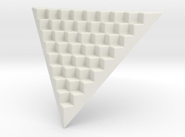 Pyramid Base for 12mm Dice (8 per edge) in White Natural Versatile Plastic