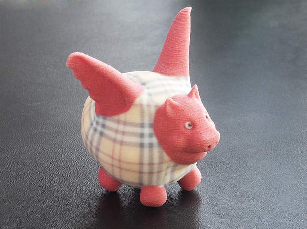 Flying Pig - Designer 1 in Full Color Sandstone