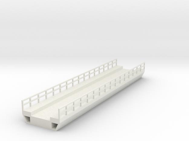 N Modern Concrete Bridge Deck Single Track 160mm in White Natural Versatile Plastic